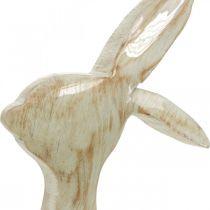 Figurine de décoration, lapin, décoration de printemps, Pâques, décoration bois 30,5 cm