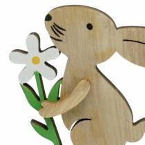 Lapin en bois sur pique Nature