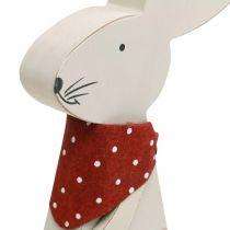 Bunny girl, décoration de printemps, lapin en bois avec un seau, lapin de Pâques