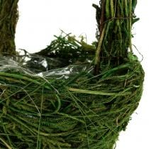 Panier à anse vert en mousse Ø 18 cm H. 27 cm