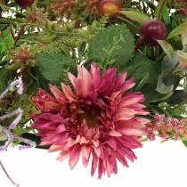 Couronne d'automne Chrysanthème Violet Ø30cm