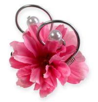Broches de mariage avec perles, argenté, 8 cm 24 p.