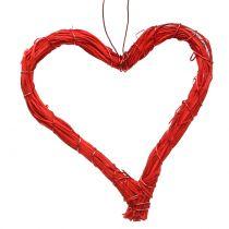Cœur creux rouge 10 cm 12 p.