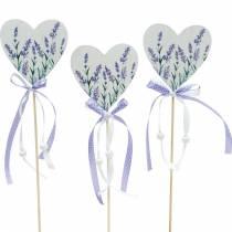 Coeur de lavande, décoration d'été, coeur à coller avec de la lavande, décoration de coeur méditerranéen 6pcs
