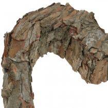 Déco coeur ouvert écorce de pin décoration automne décoration tombe 30×24cm