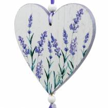 Coeur avec motif lavande à accrocher, mariage, décoration d'été méditerranéenne, Saint Valentin, coeur lavande 4pcs