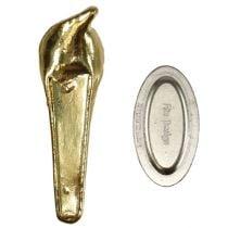Broche de mariage magnétique dorée 5 cm