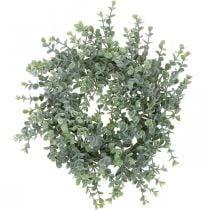 Décoration de mariage couronne d'eucalyptus artificielle Ø25cm