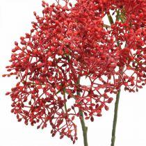 Fleur artificielle rouge sureau pour bouquet d'automne 52cm 4pcs