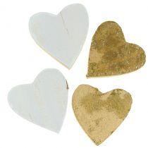 Coeur en bois dans le sac 2cm - 4cm 24pcs