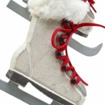 Patin à glace en bois blanc pour accrocher 8cm 3pcs