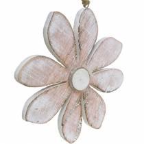 Fleurs décoratives pastel, fleurs d'été, fleurs de bois, décorations florales à suspendre Ø12,5cm 3pcs