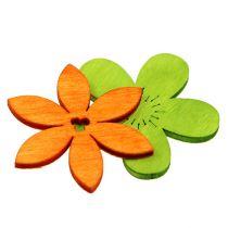Fleurs en bois 4 cm assorties 72 p.