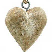 Décorations de sapin de Noël coeur en bois 4.5cm 36pcs