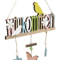 "Deco-Hanger ""Welcome"" Printemps 22cm H43cm 2pcs"