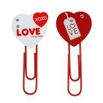 """Clips en bois coeur """"Love"""" coeur décoratif Saint Valentin 2pcs"""