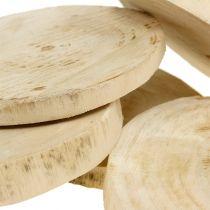 Rondelles de bois naturelles Ø 11 -13 cm 5 p.
