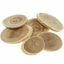 Disques décoratifs en bois ovale disque naturel Ø4-7cm décoration bois 400g