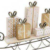 Traîneau avec cadeaux, Avent, décorations pour Noël L37.5cm H23cm