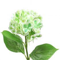 Hortensia artificiel vert, blanc 68cm