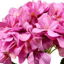 Hortensia géant rose Ø 30 cm L. 113 cm