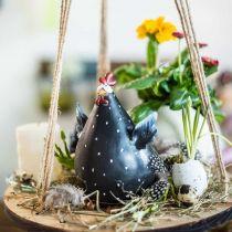 Poulet décoratif, figurine de printemps, décoration de Pâques, poule, décoration de poulet 18cm