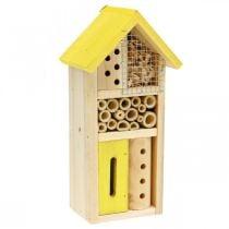 Nichoir de jardin Insect Hotel en bois jaune H26cm