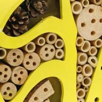 Hôtel à insectes rond jaune Ø25cm
