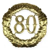 Numéro d'anniversaire 80 doré Ø 40 cm