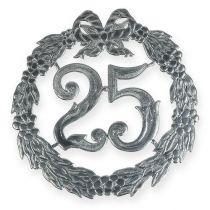 Numéro d'anniversaire 25 argenté