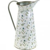 Pichet décoratif en métal vintage vase à fleurs jardin décoration jardinière H33cm