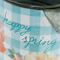 Vase à fleurs décoration pot en métal vintage jardin décoration jardinière H23cm