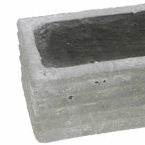 Boîte à plantes béton gris clair 30x7cm H6,5cm 2pcs