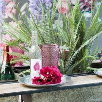 Coupe à bougie, coupe en verre, lanterne, décoration en verre Ø10cm H18.5cm