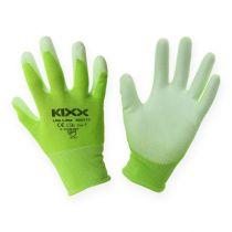 Gants de jardinage en nylon Kixx taille 8, vert clair/citron vert