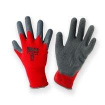Gants de jardinage en nylon Kixx taille 10, rouge/gris