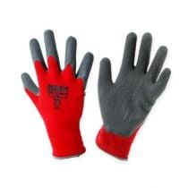 Gants de jardinage en nylon Kixx taille 8, rouge/gris