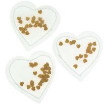 Confettis Coeur Or 5cm 24pcs