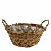 Corbeille de décoration ronde 25 cm, blanche