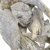 Couronne racine bois gris naturel décoration racine couronne Ø40cm H9cm