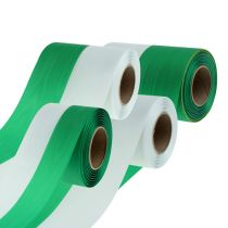 Rubans pour couronne moirés blanc-vert div. largeurs 25 m