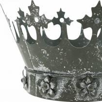 Décoration de table, couronne décorative, vent léger en métal floral, jardinière, décoration en métal