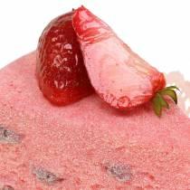 Tarte aux fraises artificielle 10cm