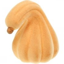 Citrouille décorative courbée orange floquée Citrouille décorative artificielle 18cm