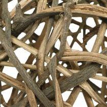 Boule déco bois de vigne naturel Ø20cm