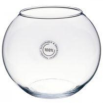 Vase boule, bocal à poissons, lanterne en verre, verre décoratif Ø18.5cm H16cm