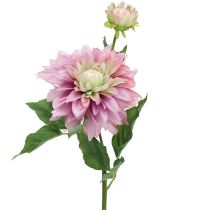 Fleur artificielle dahlia lilas 63cm