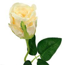 Rose artificielle en crème Ø6cm L50cm 6P