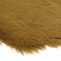 Tapis de fourrure déco marron Tapis de fourrure artificielle 55×38cm