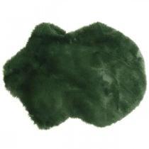 Tapis décoratif fourrure fausse fourrure verte 55×38cm